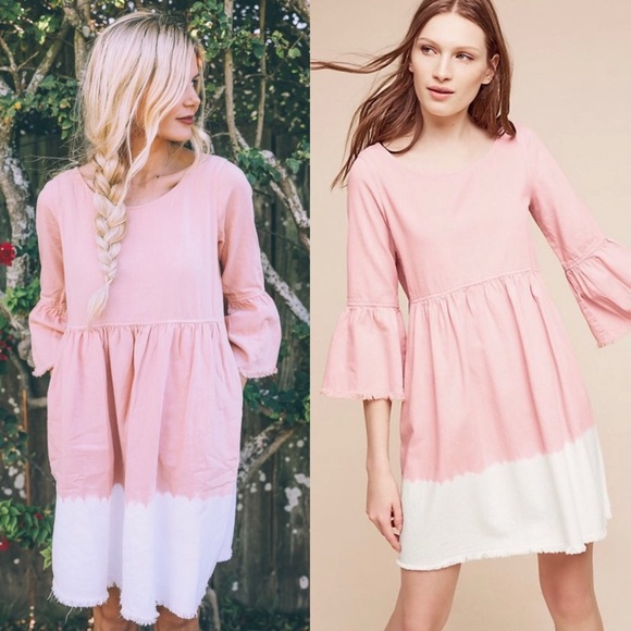 Anthropologie Dresses & Skirts - Ombré Holding Horses Lilibet pink and white dress